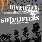 Diverzija i Shoplifters u CK13, Novi Sad. 06.12.2008. - izvestaj