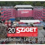 Izvođači Sziget festivala 2012 po danima
