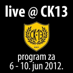 Program za CK13 (6-10. jun 2012.)